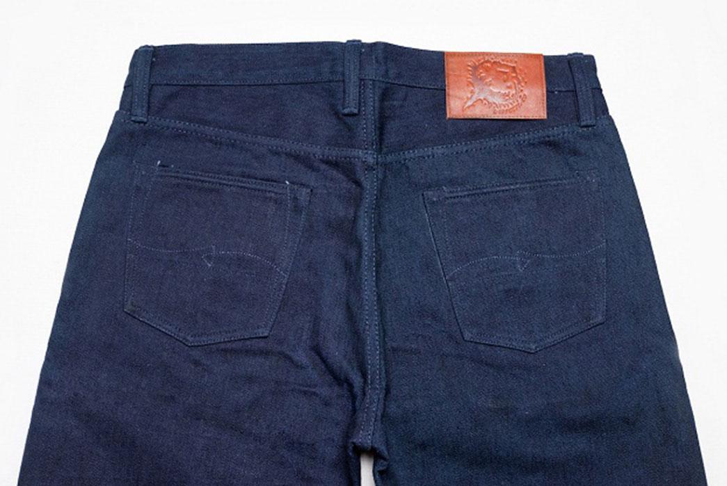 Warpweft-Co-Superior-Ten-Special-15oz-Unsanforized-Indigo-x-Indigo-Selvedge-Denim-Jeans-Back-Close-Up