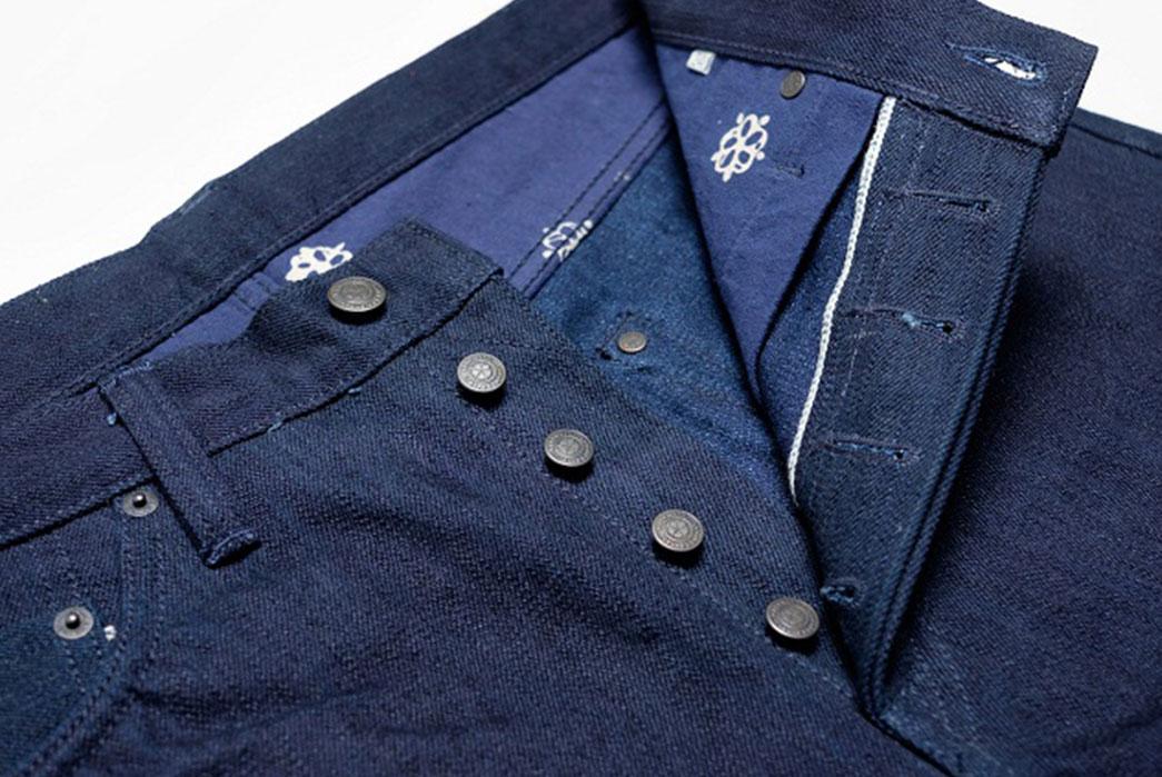 Warpweft-Co-Superior-Ten-Special-15oz-Unsanforized-Indigo-x-Indigo-Selvedge-Denim-Jeans-Buttons
