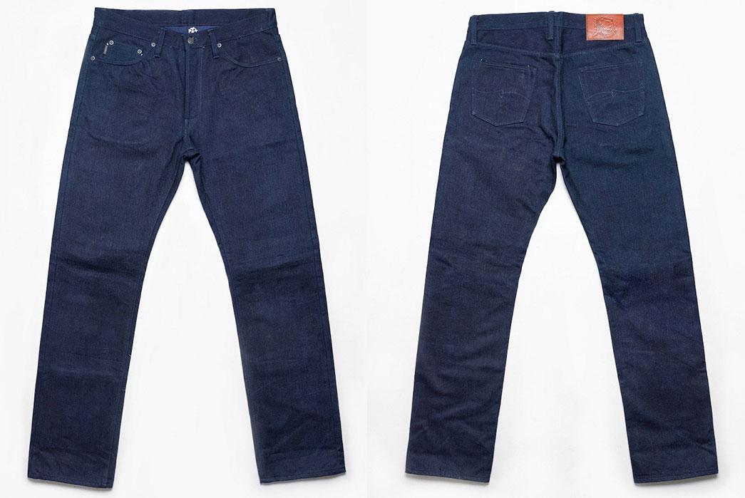 Warpweft-Co-Superior-Ten-Special-15oz-Unsanforized-Indigo-x-Indigo-Selvedge-Denim-Jeans-Front-Back