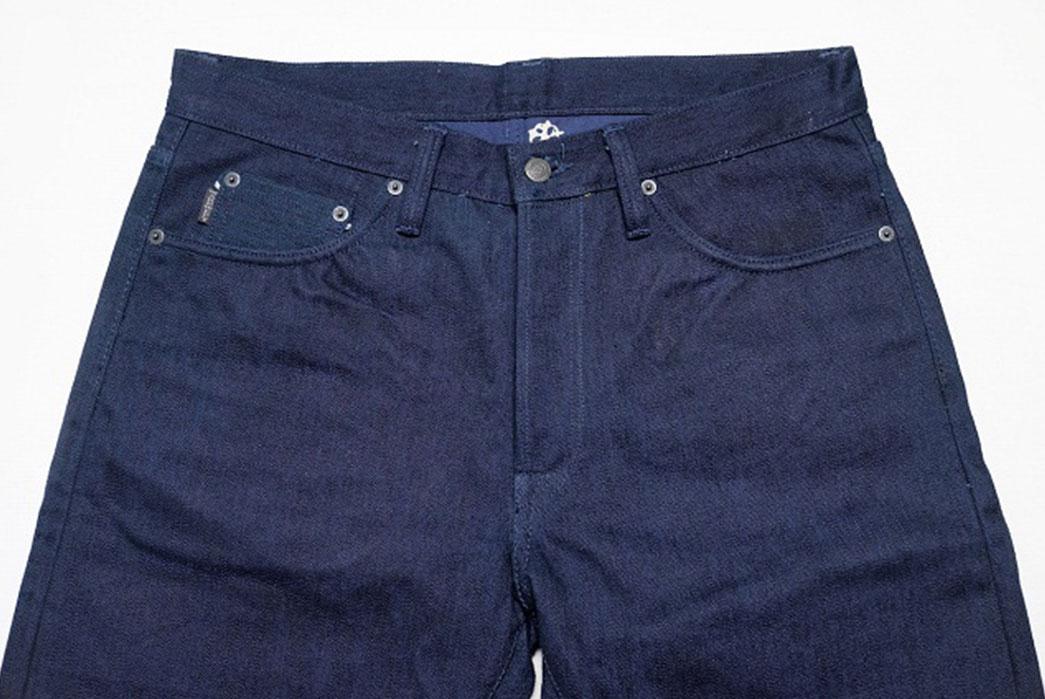 Warpweft-Co-Superior-Ten-Special-15oz-Unsanforized-Indigo-x-Indigo-Selvedge-Denim-Jeans-Front-Close-Up