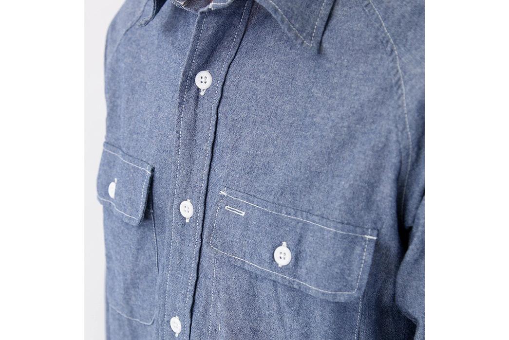 Battenwear 6oz. Indigo Chambray Camp Shirt