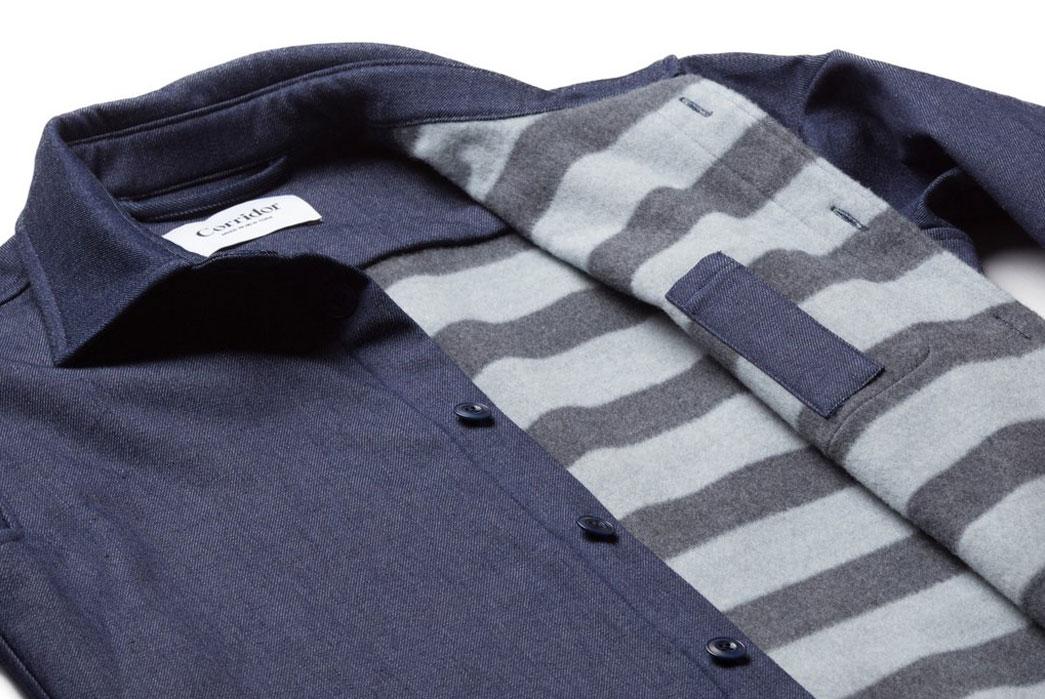 Corridor-NYC-Raw-Denim-Blanket-Lined-Overshirt-Cloth-Interior