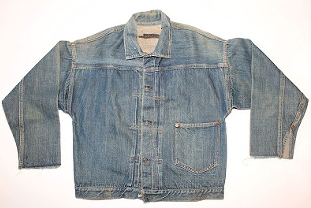 The closest thing I could find to a 1905 issue of the Levi's 506XX Blouse. Image via Google.