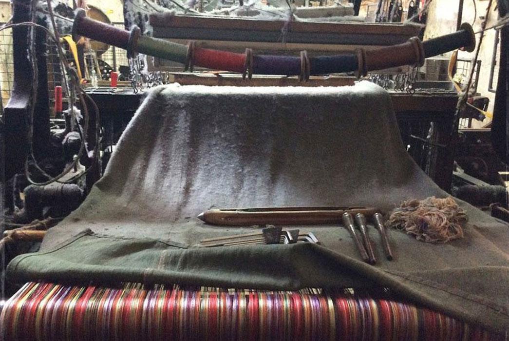 Silk-blend ikat loom