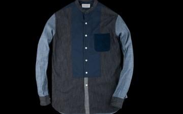 Kenneth-Field-Crazy-Band-Collar-Denim-Tuxedo-Shirt-Front