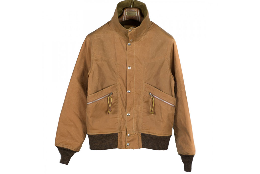 monitaly-wool-lined-waxed-cotton-field-jacket-front-closed