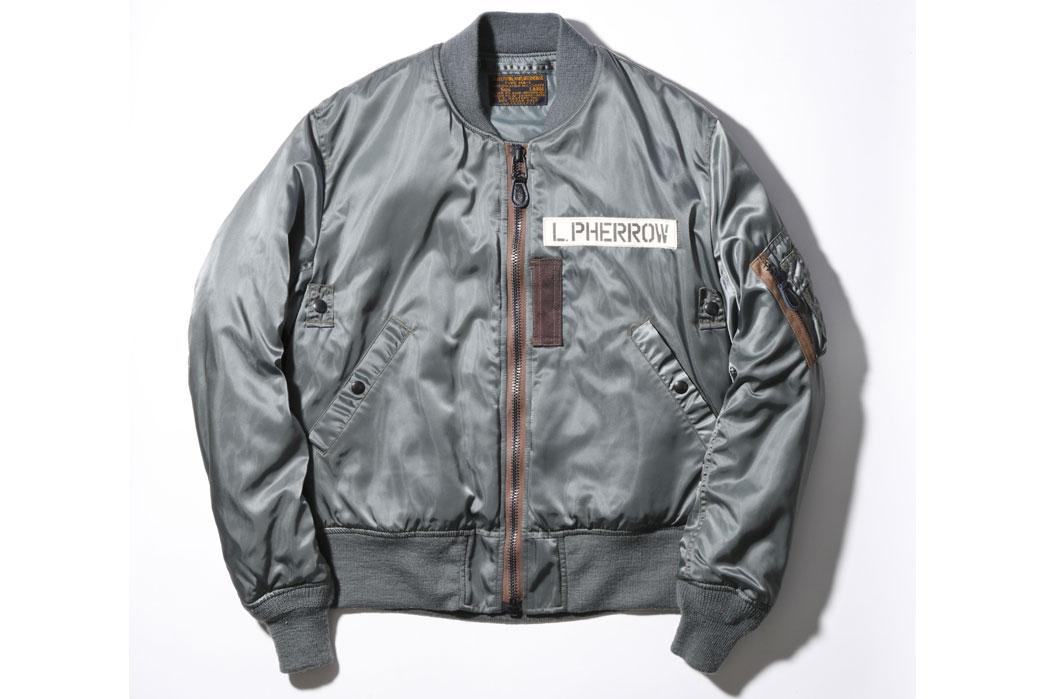 Pherrow's-Sportswear 25th-Anniversary-16W-MA-1-Jacket-Front-L-Pherrow