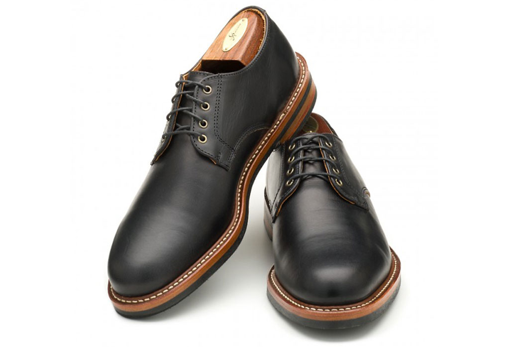 rancourt-horween-chromexcel-camden-derby-shoes-black-front