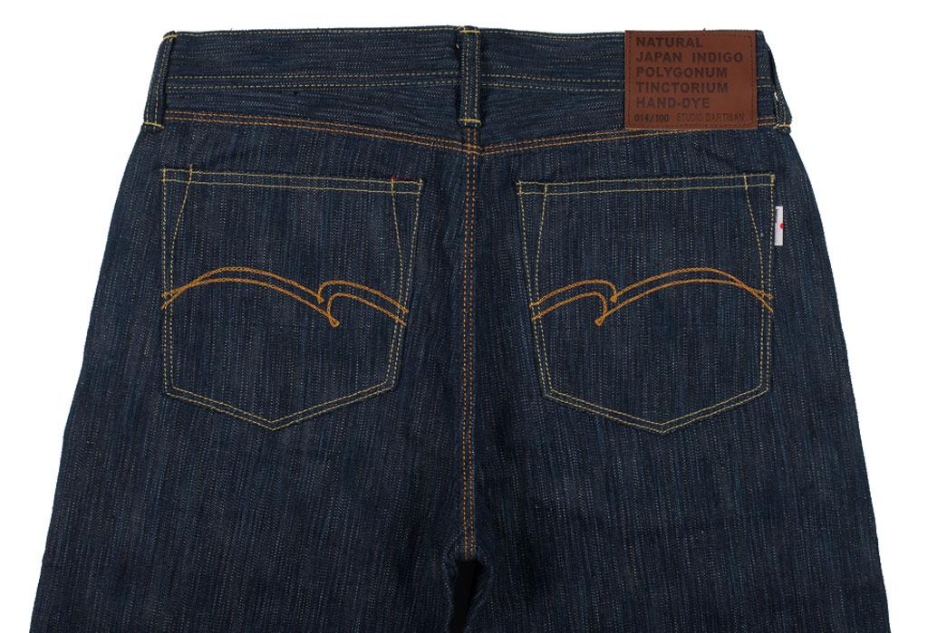 Studio-D'Artisan-Tokushima-Natural-Indigo-Dyed-Denim-Jeans-Back-Close-Up
