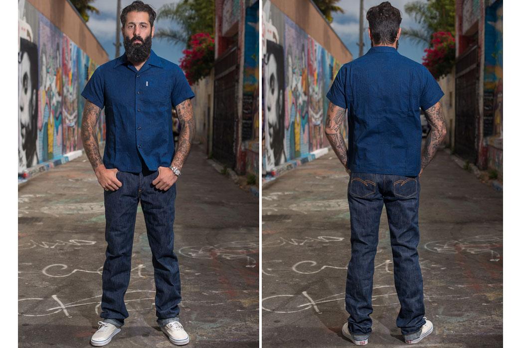 Studio-D'Artisan-Tokushima-Natural-Indigo-Dyed-Denim-Jeans-Front-Back