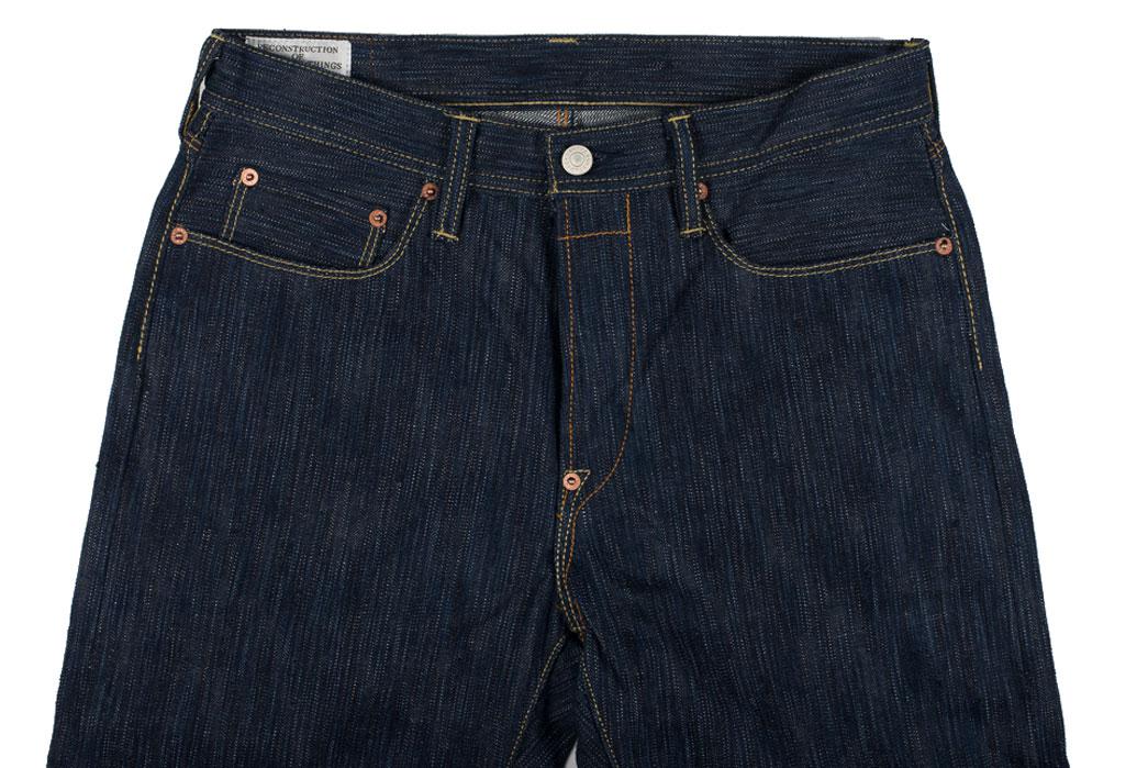 Studio-D'Artisan-Tokushima-Natural-Indigo-Dyed-Denim-Jeans-Front-Close-Up
