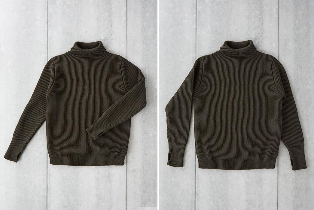andersen-andersen-symmetrical-turtleneck-sweaters-green-back-front