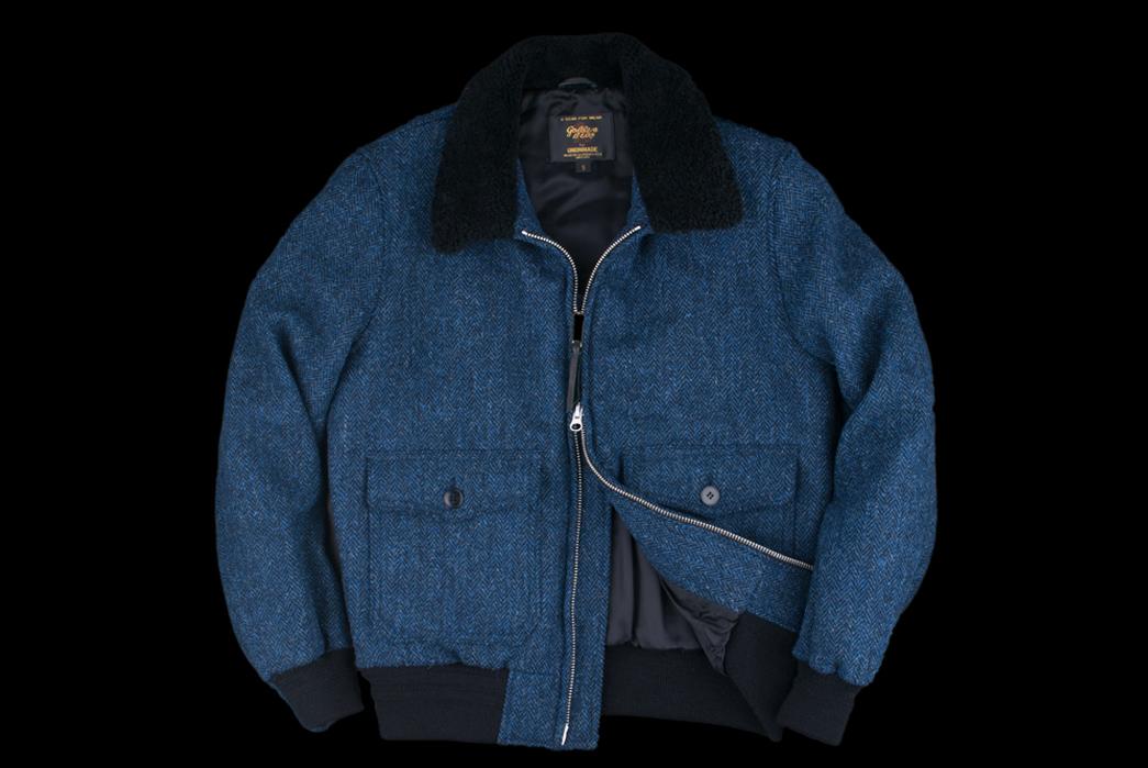 golden-bear-harris-tweed-lewis-bomber-with-mouton-fur-collar-front-open