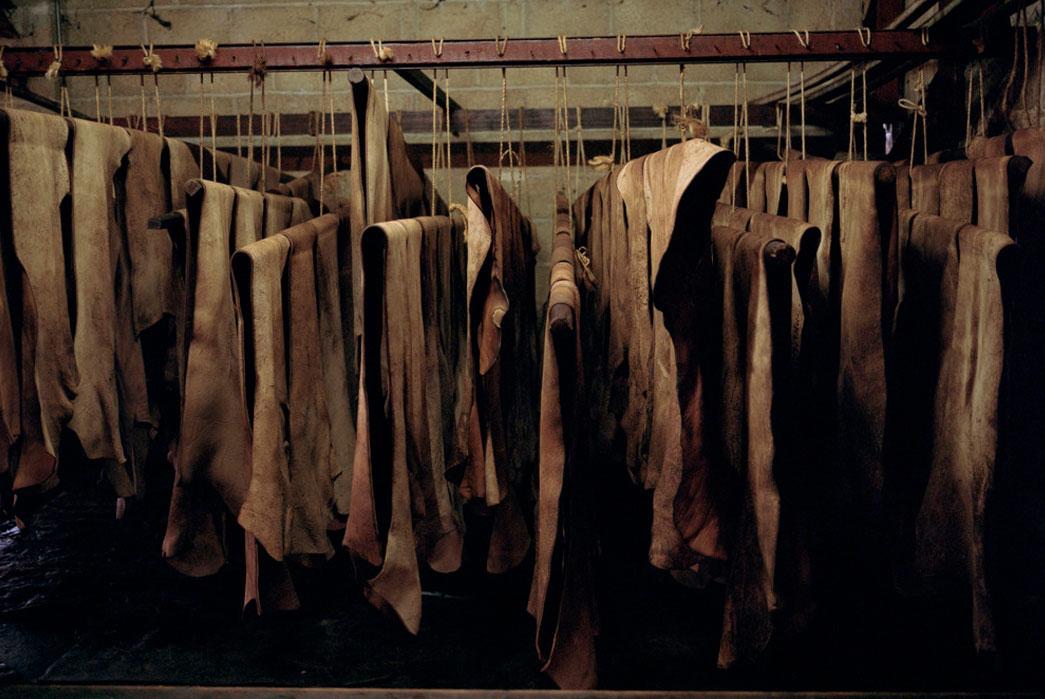 Hides dryingat Baker's Tannery. Image source: holeandcornermagazine.com