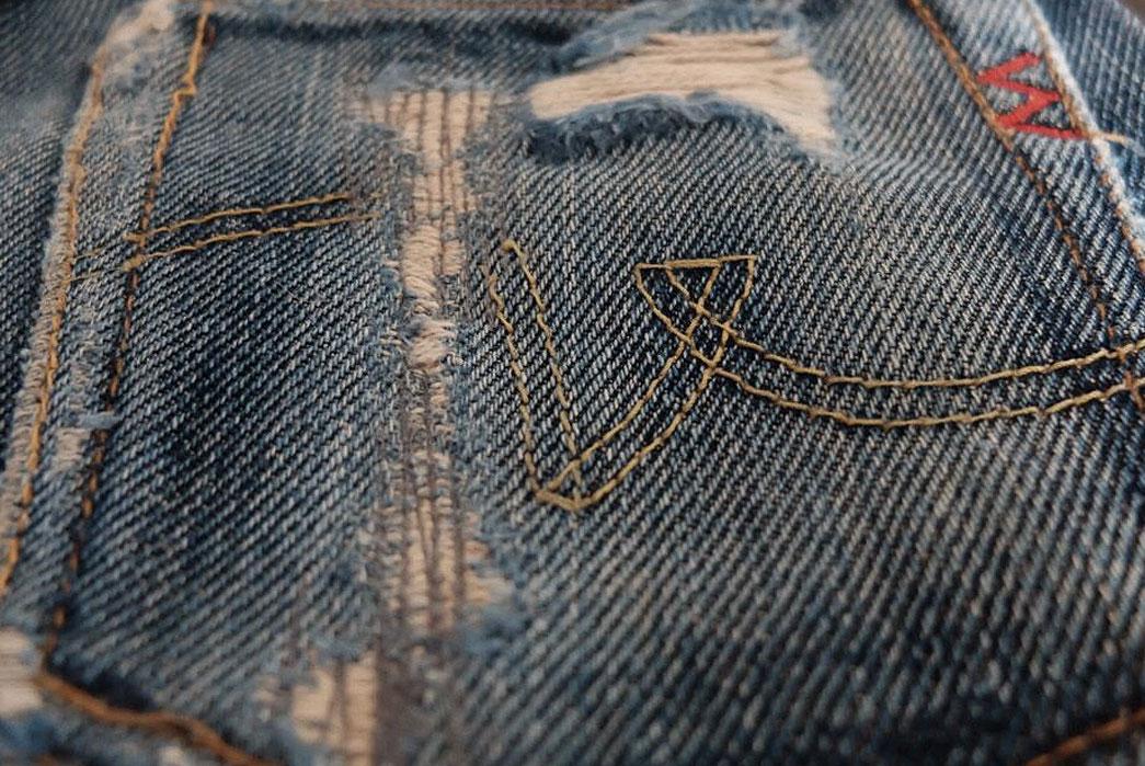 iron-heart-301s-raw-denim-jeans-back-pocket-closeup
