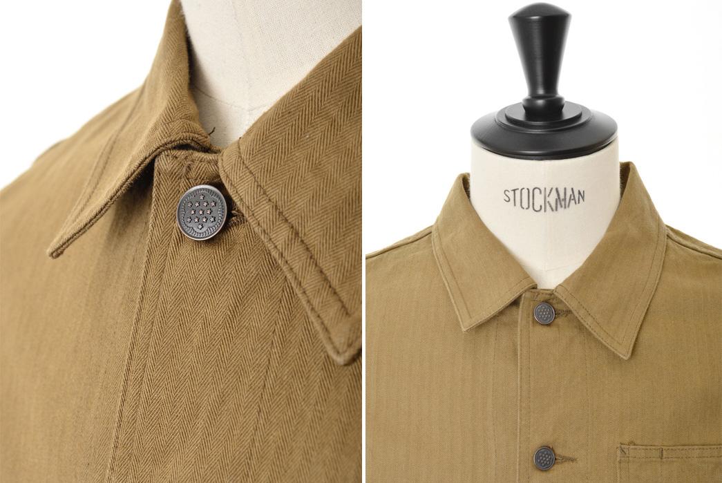 knickerbocker-mfg-co-service-chore-coat-brown-herringbone-twill-detailed-button