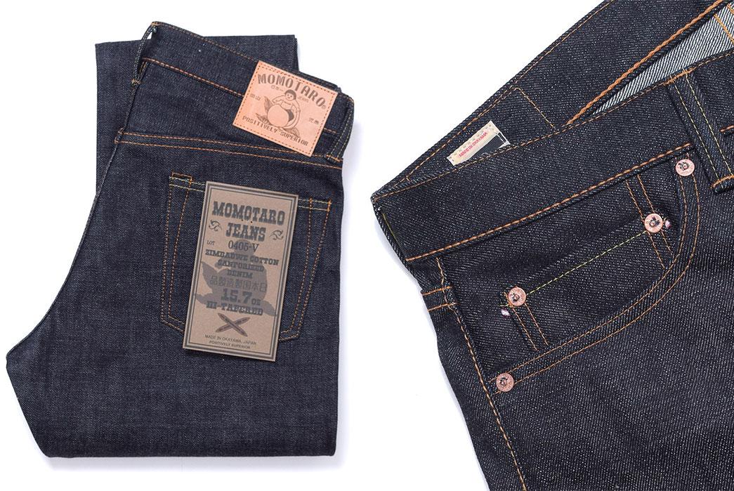momotaro-0405-15-7-oz-zimbabwe-cotton-high-tapered-jeans-folded