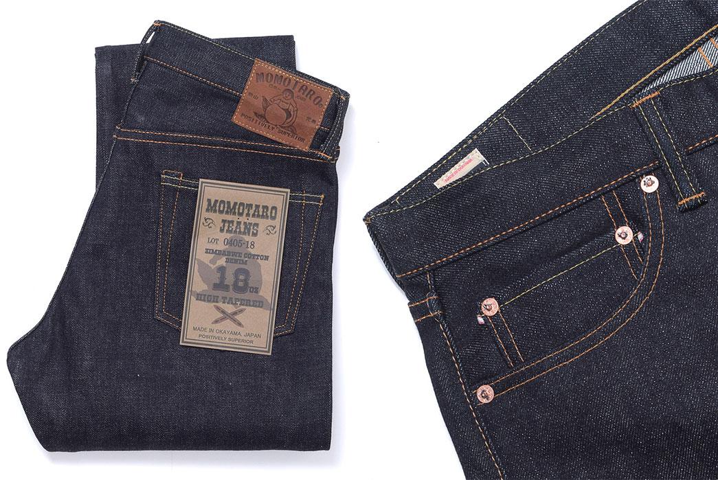 momotaro-0405-18-oz-zimbabwe-cotton-high-tapered-jeans-folded