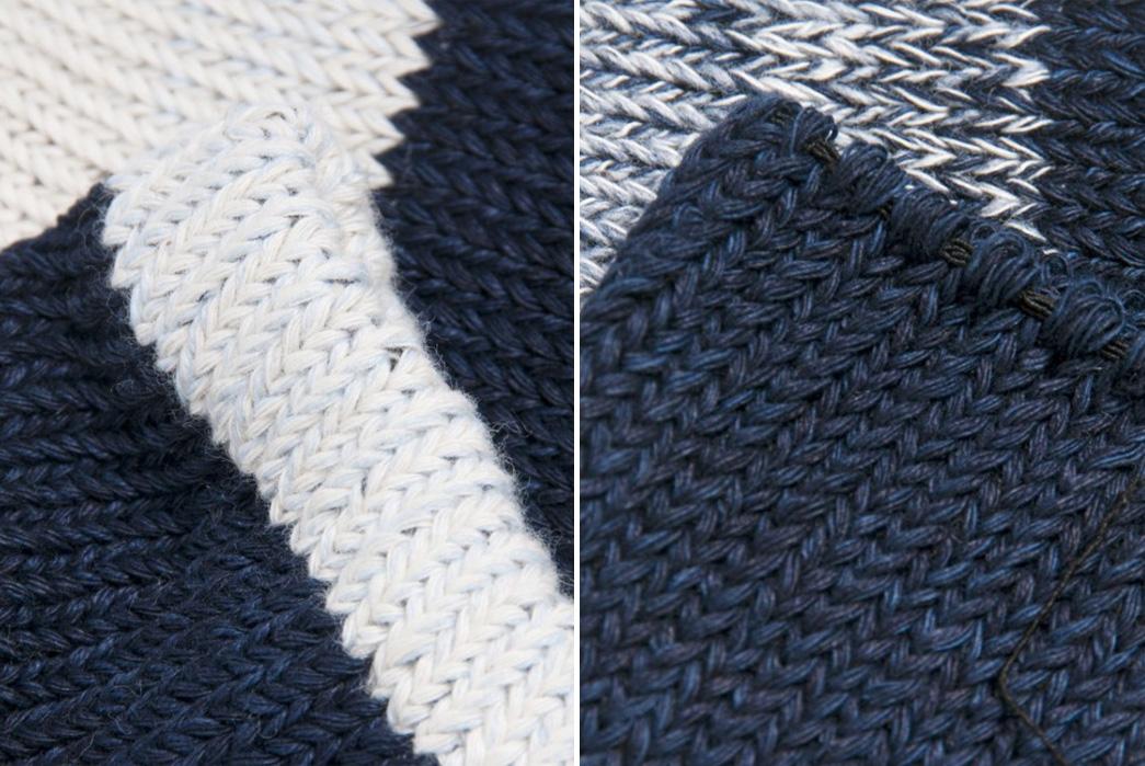 nihon-menpu-mills-indigo-dyed-socks-blue-white-close