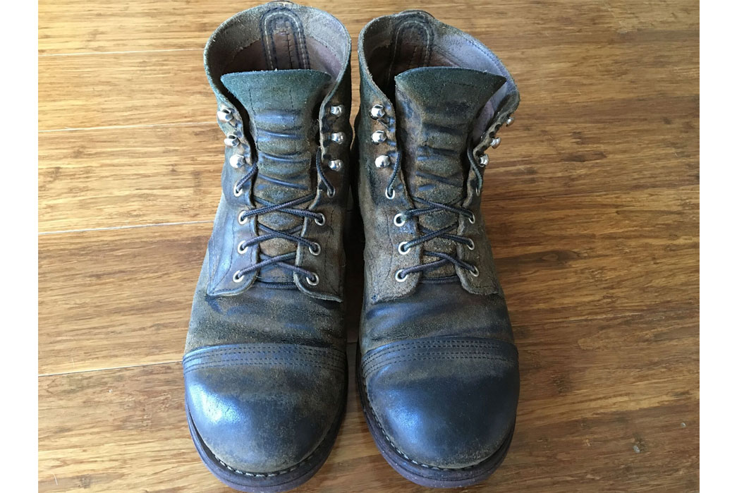 Fade of the Day – Red Wing Hawthorne Muleskinner Iron Ranger (1 Year, 7 Months)