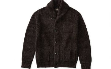 rrl-black-indigo-cotton-blend-donegal-cardigan-front