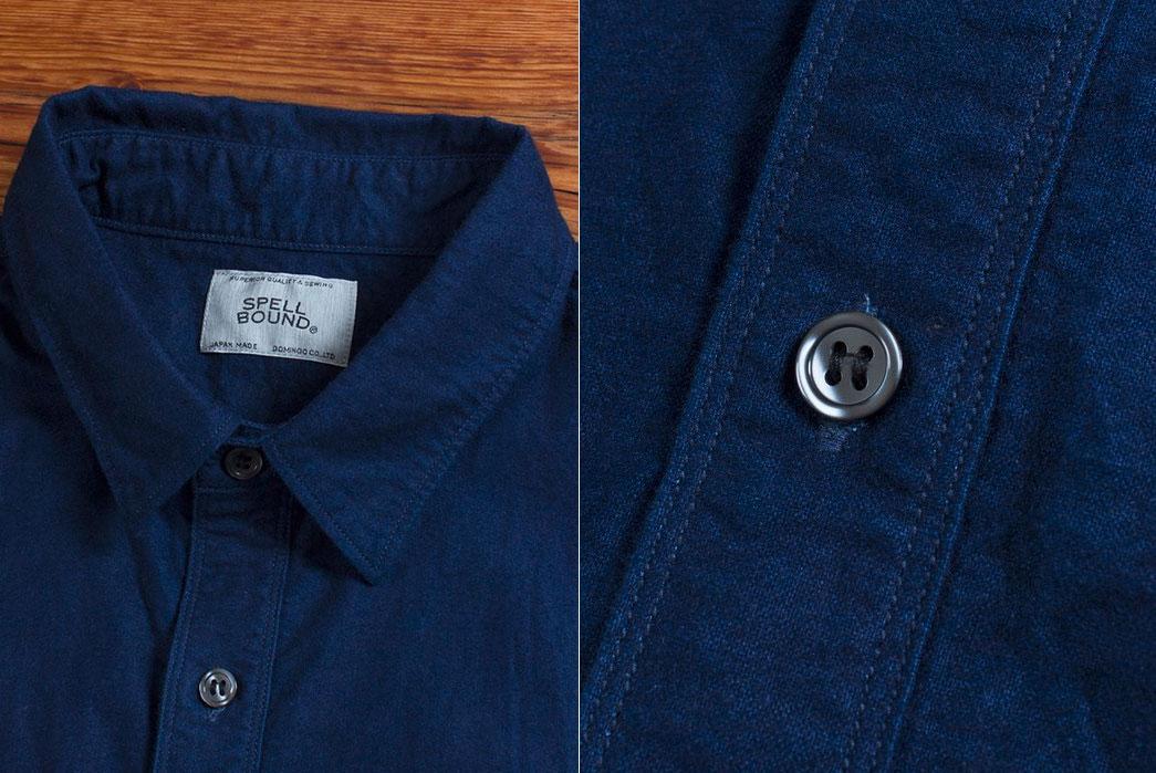 spellbound-origami-natural-indigo-yarn-dyed-selvedge-flannel-shirt-closeup