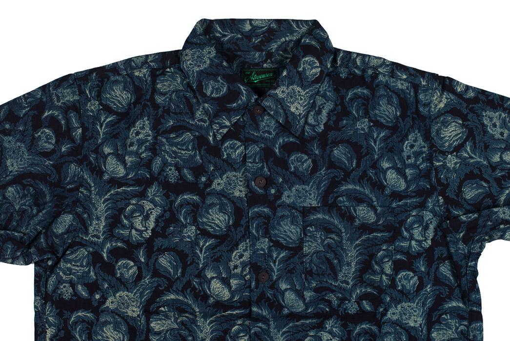 stevenson-overall-co-indigo-dyed-flower-print-shirts-front-dark