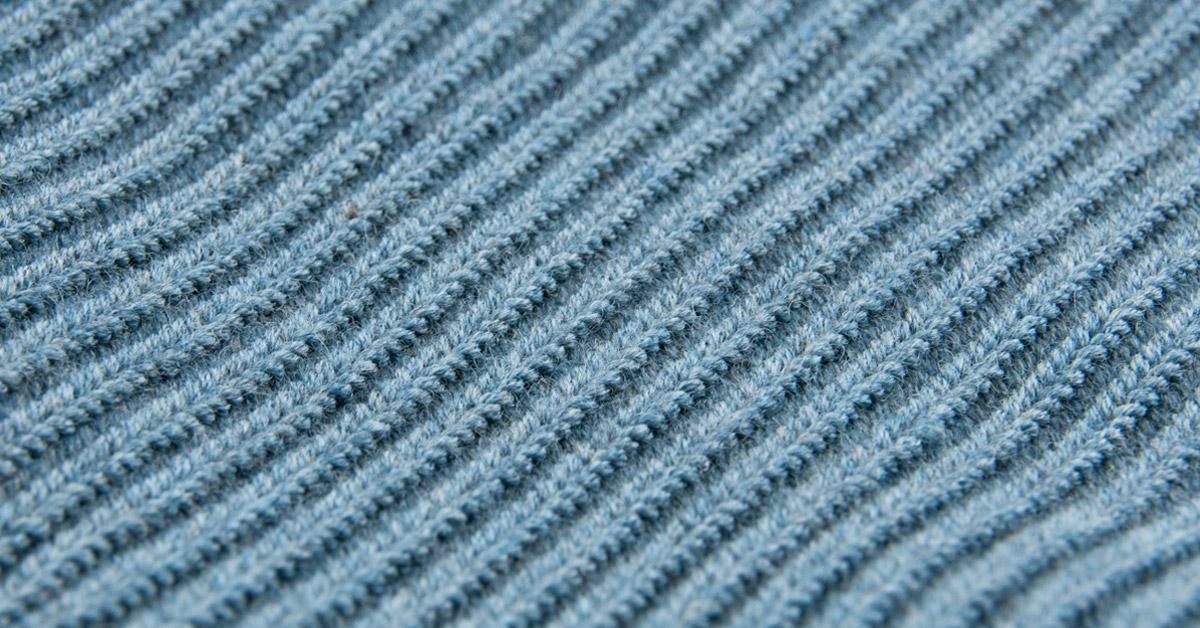 Andersen-Andersen Indigo-Dyed Merino Wool Crew Neck Sweater