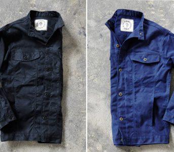 ginew-10-1oz-waxed-army-duck-canvas-rider-jackets-black-blue