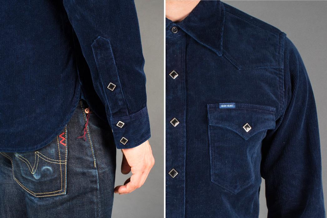 iron-heart-indigo-corduroy-western-shirt-hand-and-side