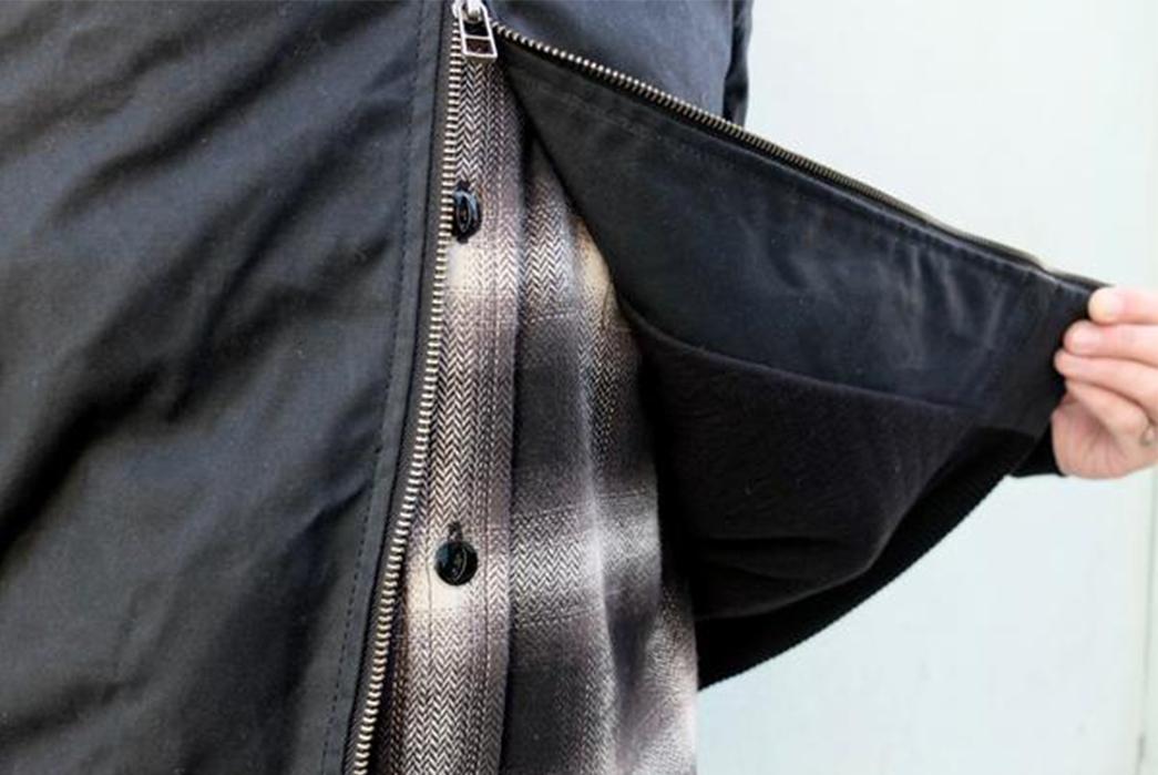3sixteen-waxed-stadium-jackets-front-inside-on-model