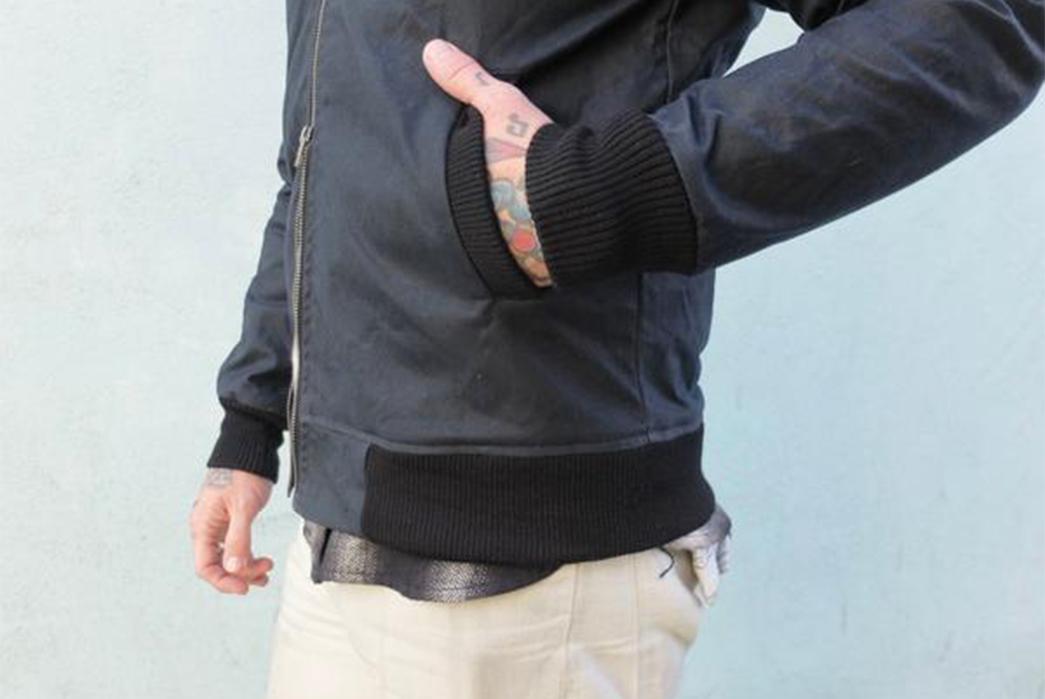 3sixteen-waxed-stadium-jackets-side-sleeve-on-model