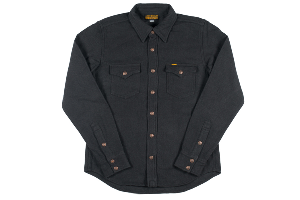 iron-heart-ultra-heavy-flannel-cpo-shirts-black-front