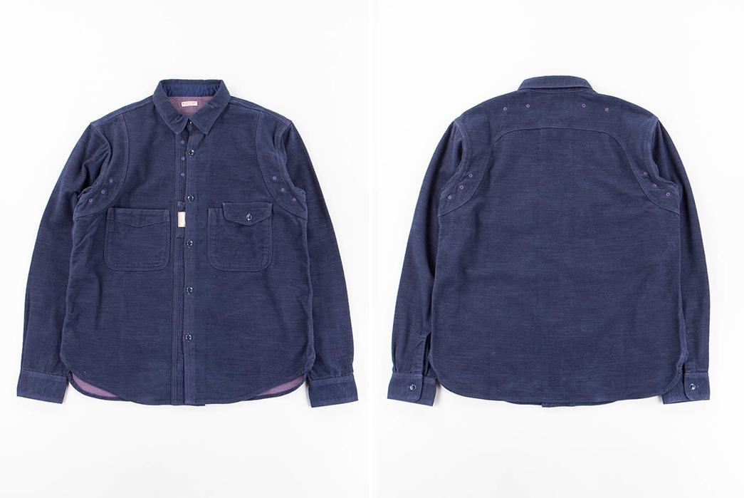 kapital-cotton-navy-cpo-shirt-front-back