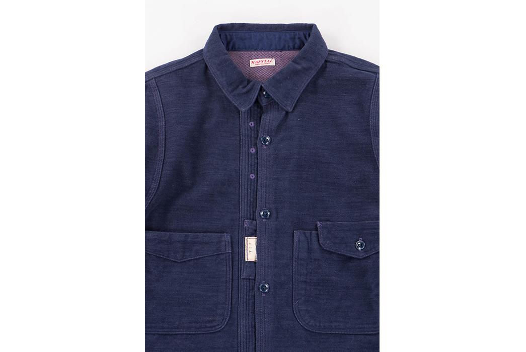 kapital-cotton-navy-cpo-shirt-front-detailed