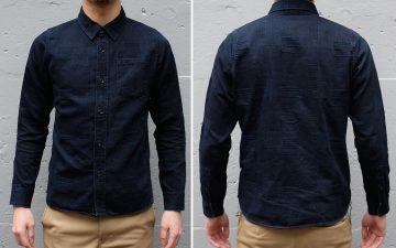 pure-blue-japan-indigo-dyed-jacquard-shirt-model-front-back