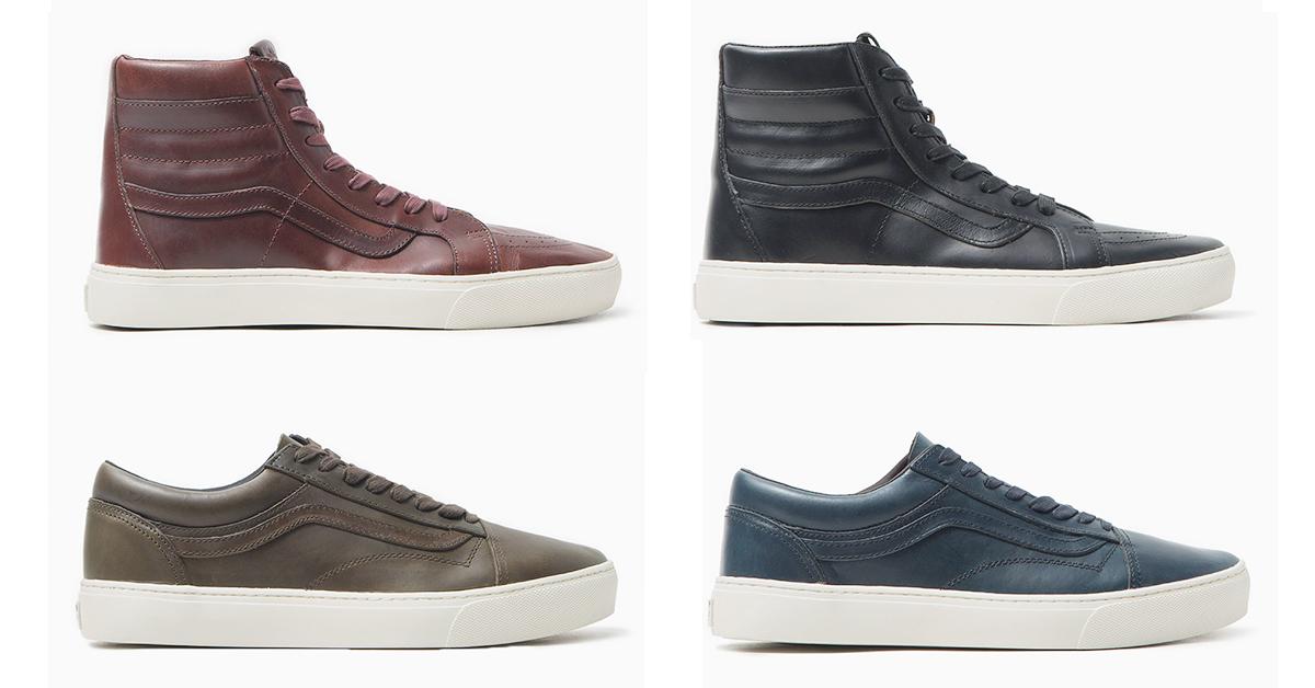 1f463c251d Vans Vault Drops Collection of Horween Leather Sneakers