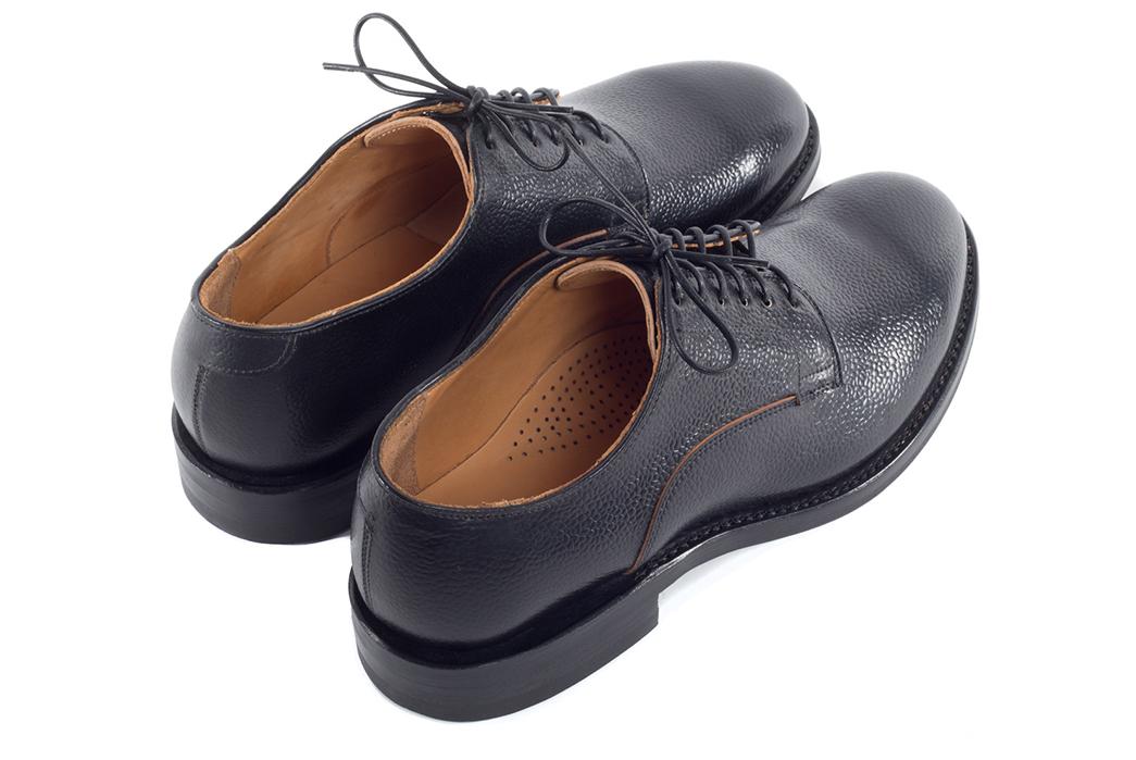 viberg-scotch-grain-shell-cordovan-derby-shoe-back-angle
