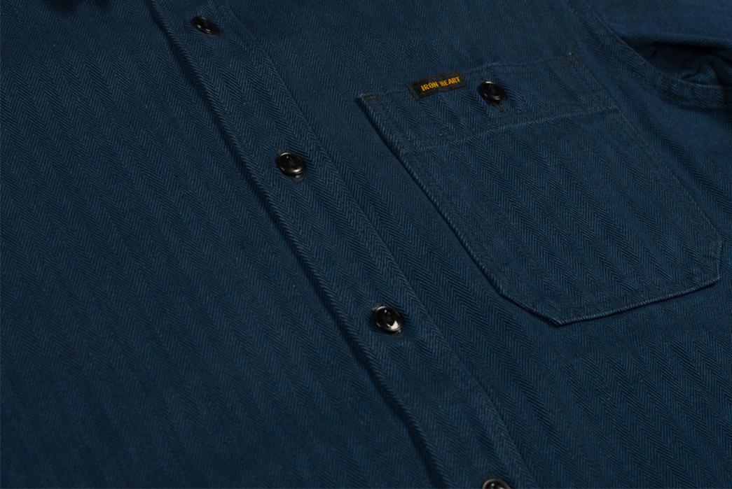 iron-heart-indigo-heavy-herringbone-workshirt-front-detailed