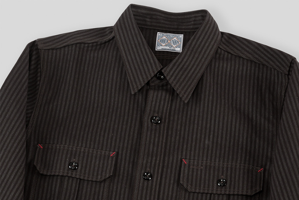 joe-mccoy-8-hour-union-hickory-stripe-gray-black-work-shirt-front-top