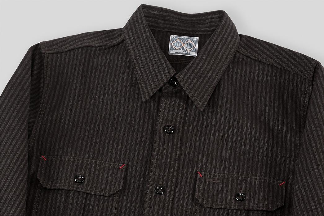joe-mccoy-8-hour-union-hickory-stripe-gray-black-work-shirt-front-top