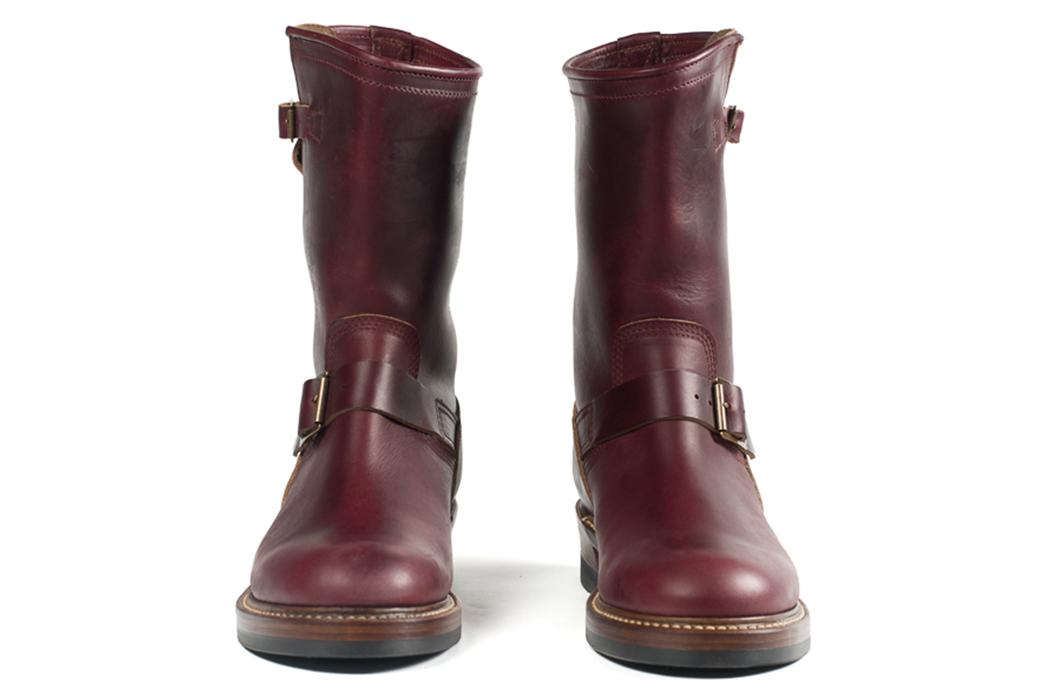 john-lofgren-burgundy-chromexcel-engineer-boots-front