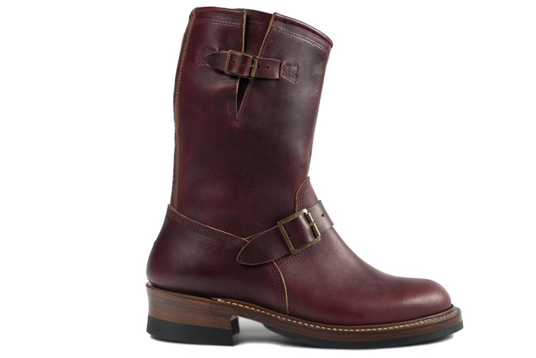 john-lofgren-burgundy-chromexcel-engineer-boots-one-side