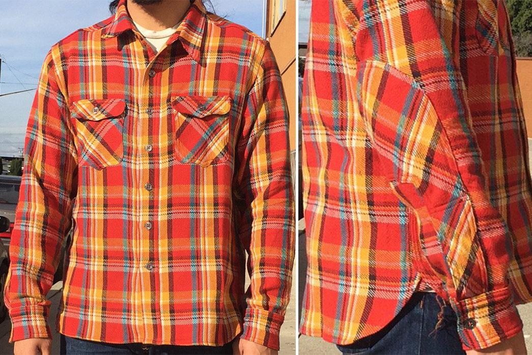 left-field-12oz-japanese-twill-tartan-plaid-shirts-orange