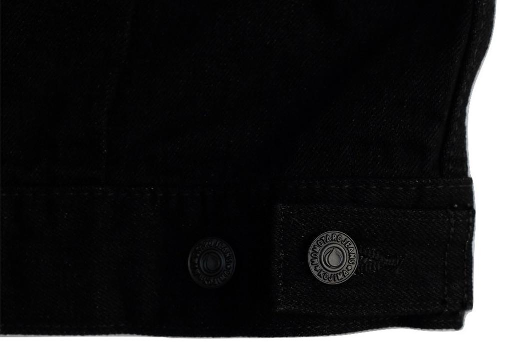 momotaro-b2105sp-15-7oz-ocean-rinsed-black-x-black-type-ii-denim-jacket-bottom-buttons