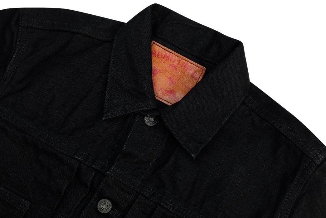 momotaro-b2105sp-15-7oz-ocean-rinsed-black-x-black-type-ii-denim-jacket-front-collar-angle