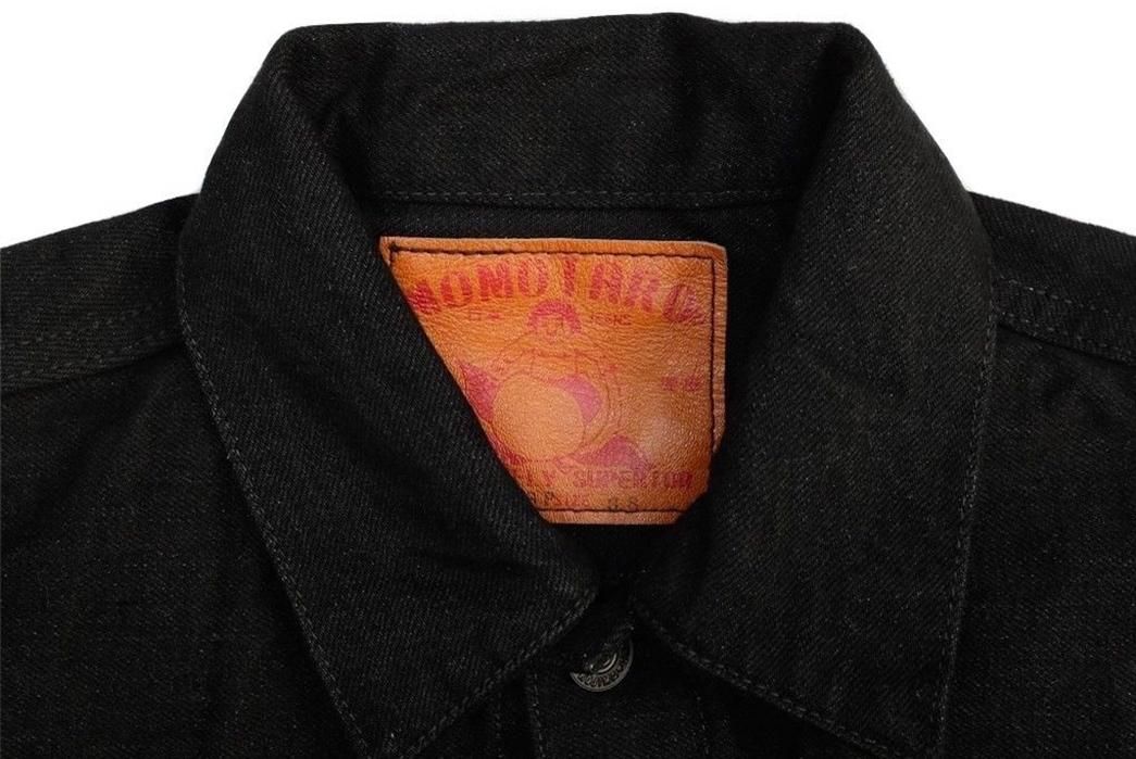 momotaro-b2105sp-15-7oz-ocean-rinsed-black-x-black-type-ii-denim-jacket-front-collar