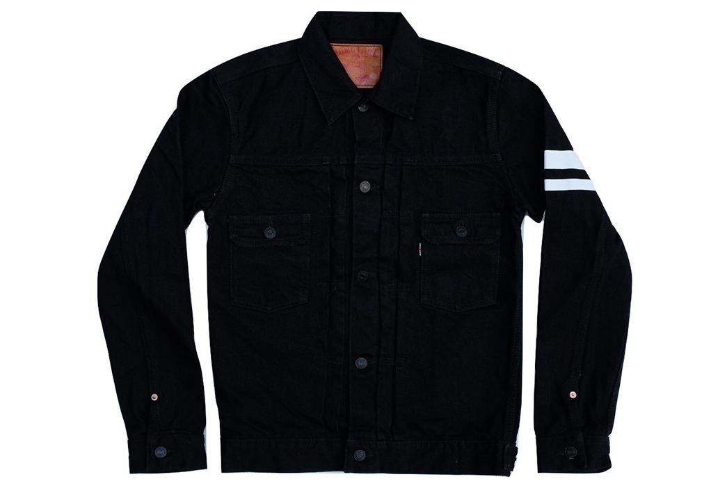 momotaro-b2105sp-15-7oz-ocean-rinsed-black-x-black-type-ii-denim-jacket-front