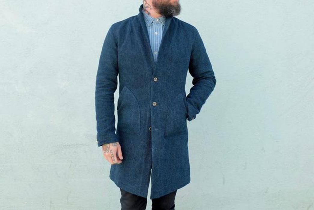 nine-lives-indigo-sashiko-duster-coat-model-front