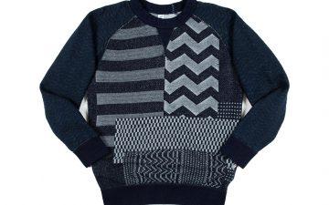 pure-blue-japan-patchwork-jacquard-crewneck-sweatshirt-front